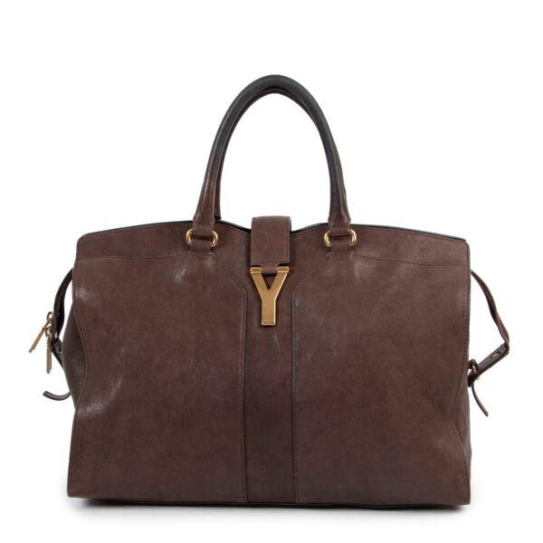 Saint Laurent Brown Y-Cabas Shoulder Bag
