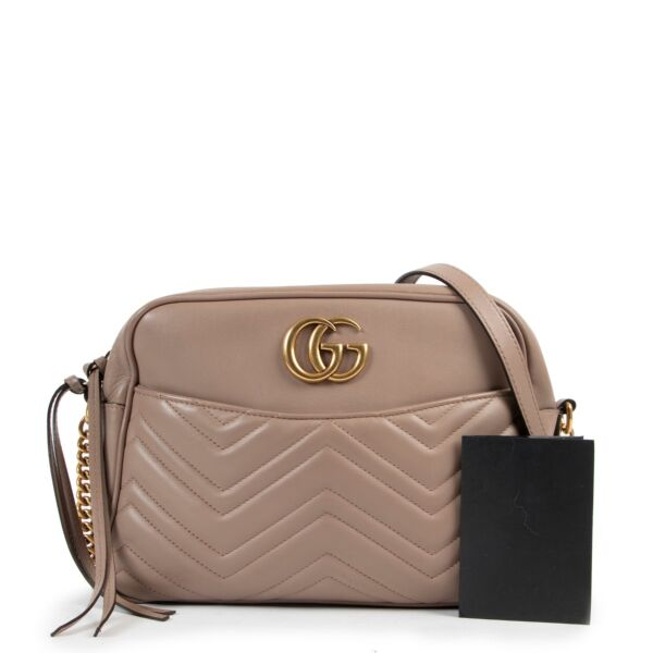 Gucci Dust Pink GG Marmont Crossbody