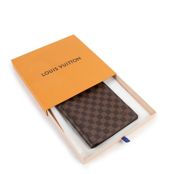 Louis Vuitton Damier Ebene Canvas Desk Agenda Cover