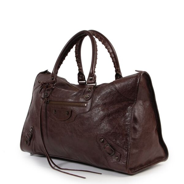 Balenciaga Brown Classic City Shoulder Bag