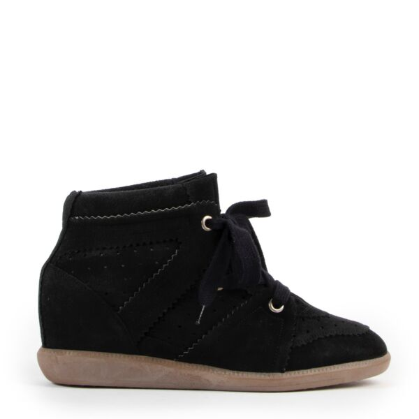 Isabel Marant Etoile Bobby Suede Wedge Sneakers - Size 41