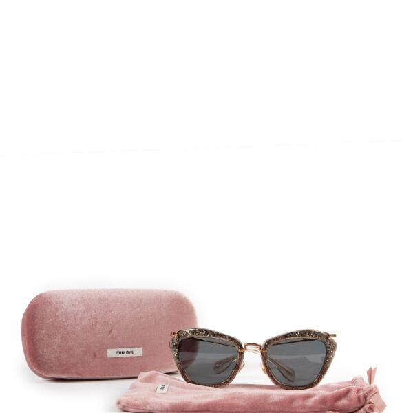 Miu Miu Noir with Golden Glitter Sunglasses
