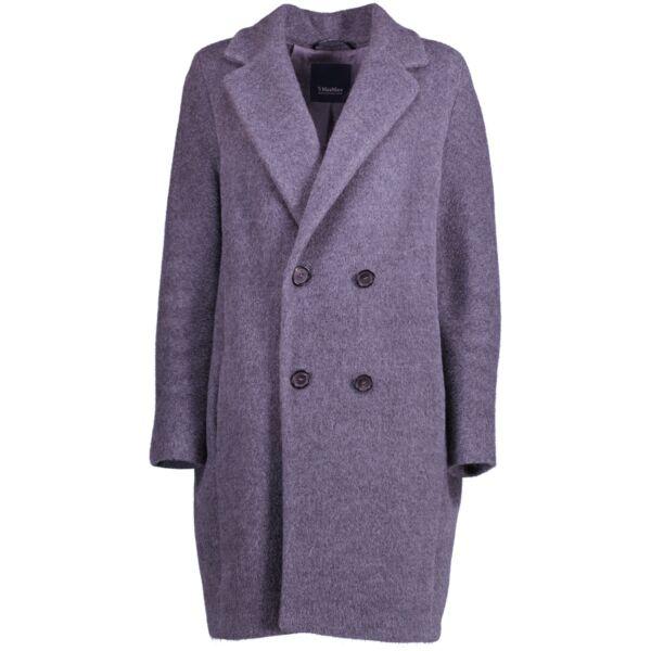 shop and sell authentic second hand Max Mara Rosato Gray Alpaca-blend Coat at Labellov