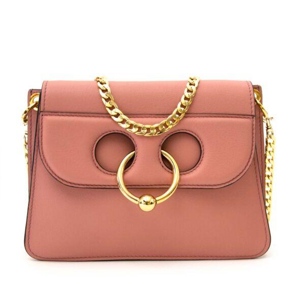 JW Anderson mini pierce bag dusty rose now for sale at labellov vintage fashion webshop belgium