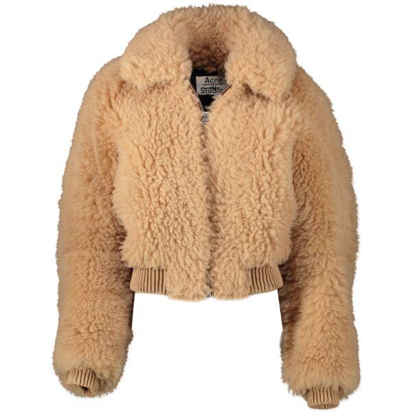 Acne Studios Linne Paw17 Cropped Lamb Shearling Jacket - size 38