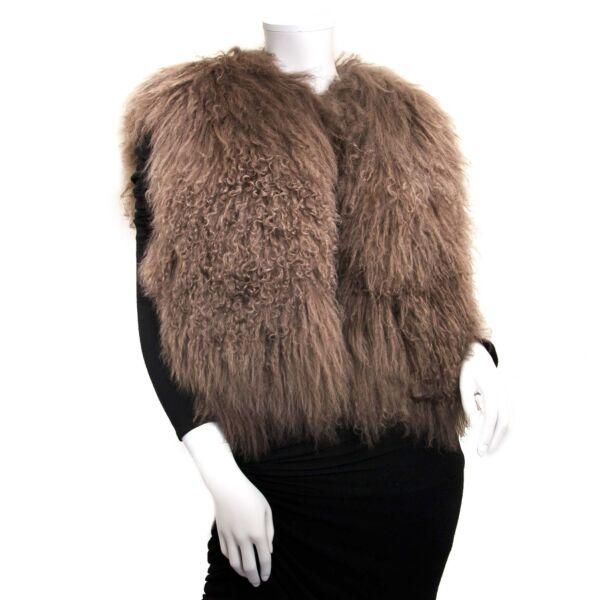 balenciaga mongolian sheep vest now for sale at labellov vintage fashion webshop belgium