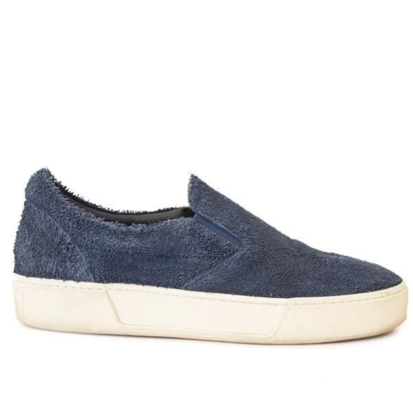 Authentieke tweedehands vintage Balenciaga Blue Slip On Sneakers - size 40 koop online webshop LabelLOV