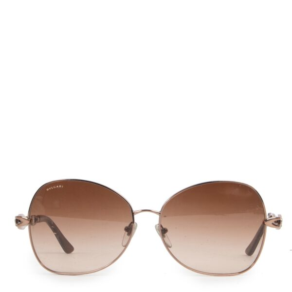 Shop safe online 100% authentic second hand Bulgari Brown Sunglasses in very good condition at the right price at labellov in Antwerp.