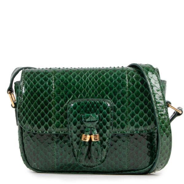 Céline Malachite Python Tassel Bag Small online at the best price