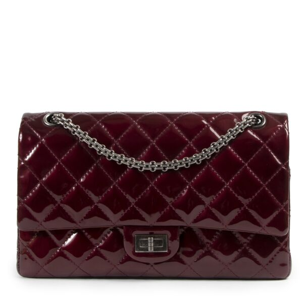 Chanel 2.55 Reissue 226 Patent Burgundy Flap Bag for the best price at Labellov secondhand luxury