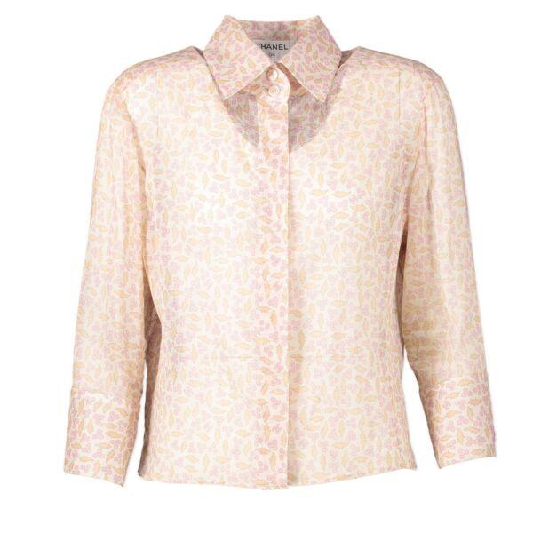 Chanel Camelia Cotton Shirt - size FR42