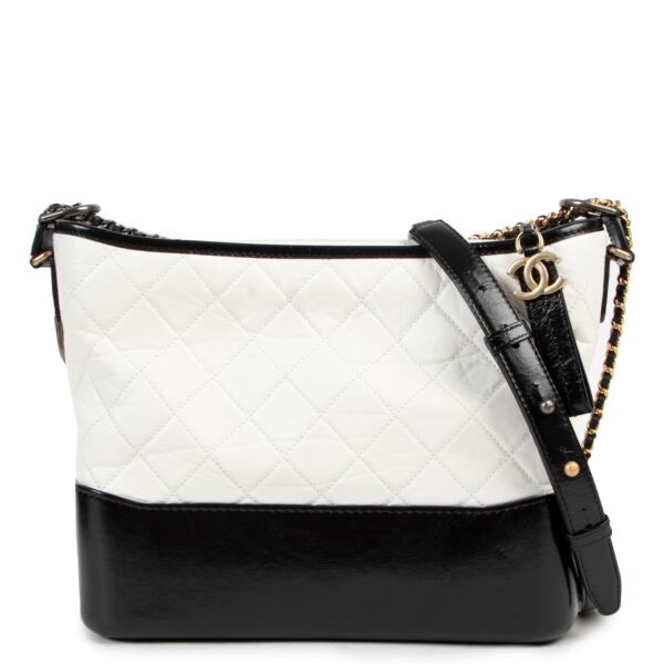 Chanel Gabrielle Black and White Hobo Bag