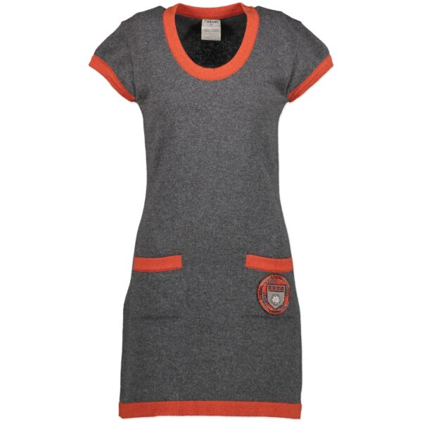 Chanel Cashmere Grey Dress - Size 36 for the best price at Labellov secondhand luxury