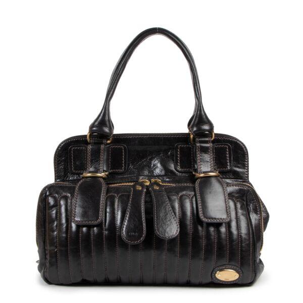 Chloé Black Leather Bay Bag