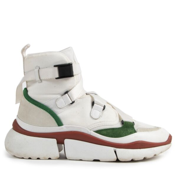 Chloé Sonnie High Top Sneakers White/Red/Green for the best price at Labellov