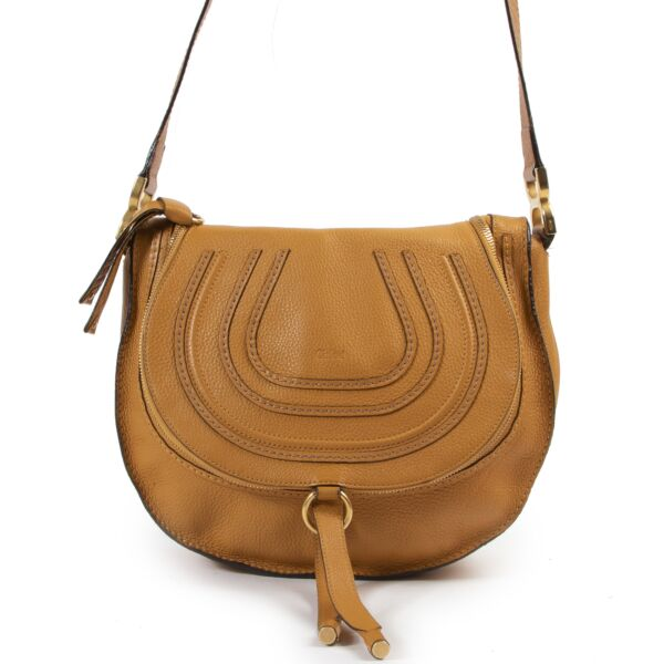 Chloe Ochre Medium Marcie Zip Crossbody Bag