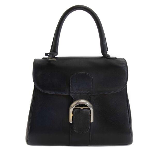 Delvaux Brillant PM Black Bag now for sale at labellov vintage fashion webshop belgium