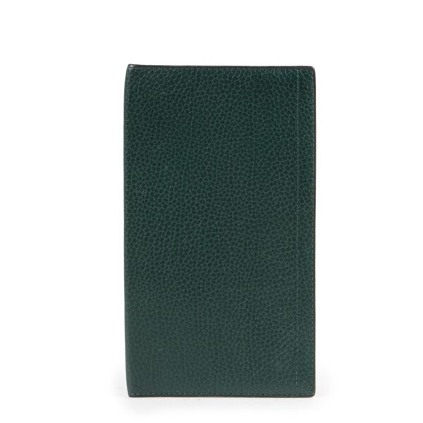 Shop safe online authentic Delvaux Green Checkbook Wallet at Labellov.com.