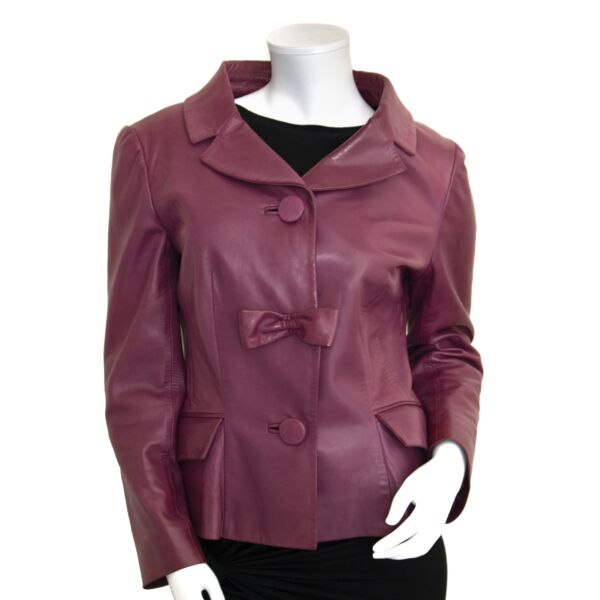 Dior Leather Purple Vest - size 44 for sale online at Labellov secondhand luxury