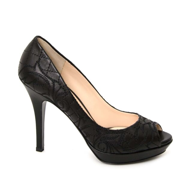 Versace black heels now for sale at labellov vintage fashion webshop