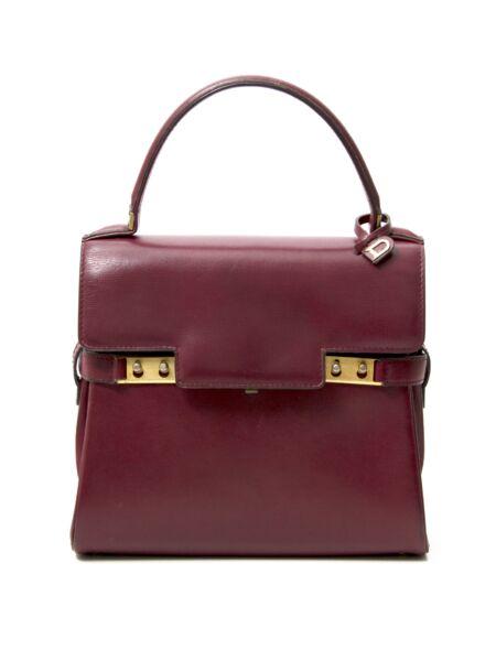 Delvaux Red Tempete Handbag, tweedehands vintage designer handtas te koop bij Labellov, Antwerpen