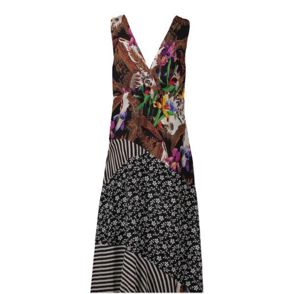 Authentic second-hand vintage Etro Multicolor Viscose Nylon Dress - IT Size 46 buy online webshop LabelLOV