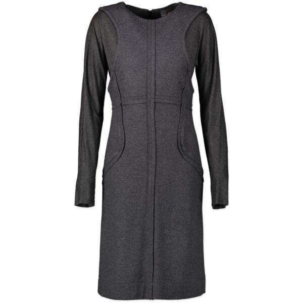 Fendi Grey Long Sleeves Knit Dress - size 38