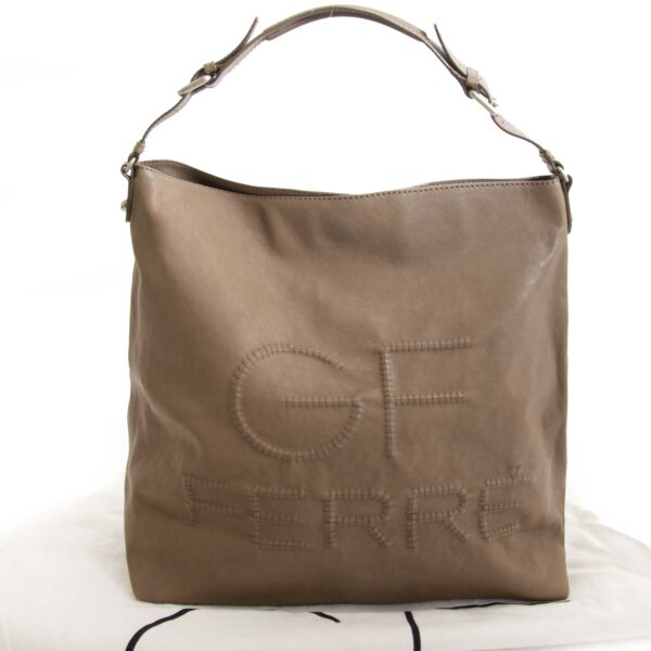 Gianfranco Ferré Taupe Shoulder Bag