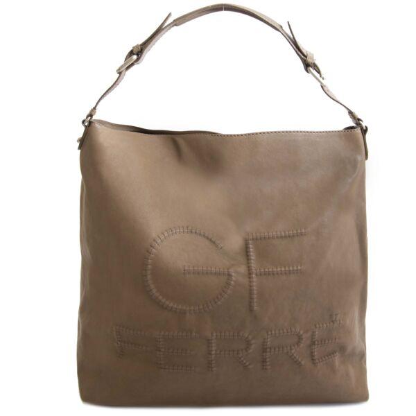 GF Ferré Taupe Shoulder Bag. GF Ferré Taupe Shoulder Bag.