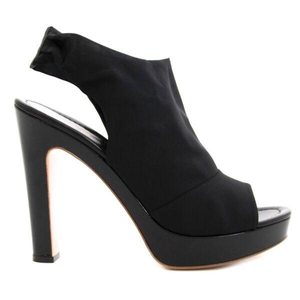 Gianvito Rossi Jersey Nero Black Sandals Heels