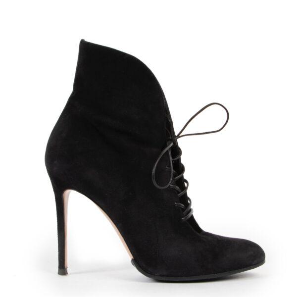 Gianvitto Rossi Black Lace Boots - size 36