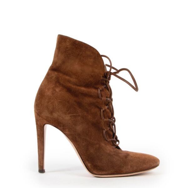 Gianvitto Rossi Brown Suede Boots - Size 36