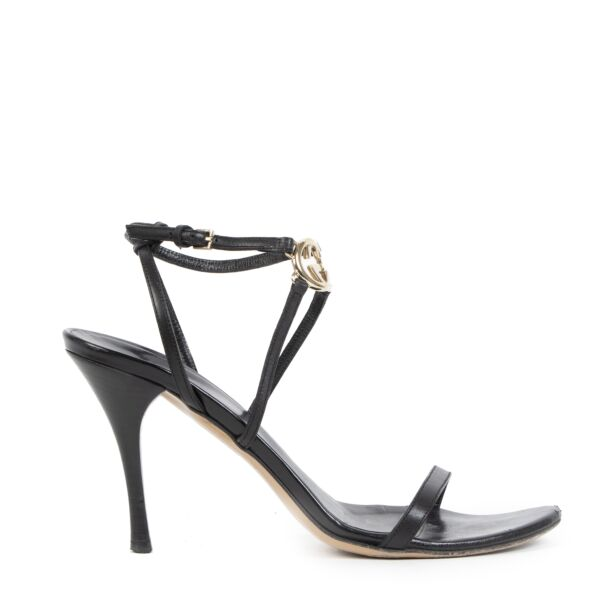 Authentic second-hand vintage Gucci Strappy Sandal Heels - Size 39 buy online webshop LabelLOV