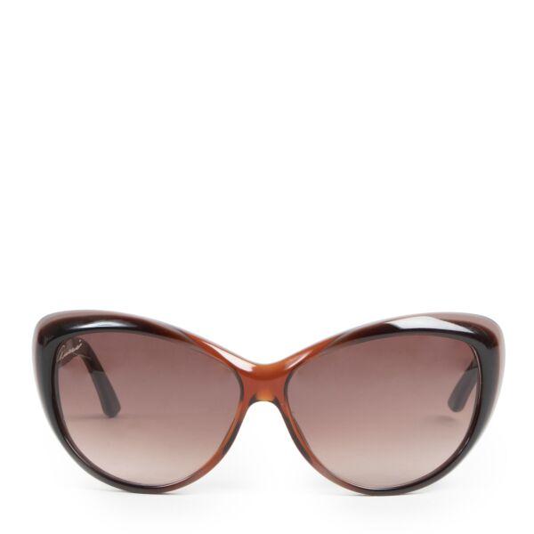Gucci Brown Cateye Sunglasses te koop bij Labellov tweedehands luxe