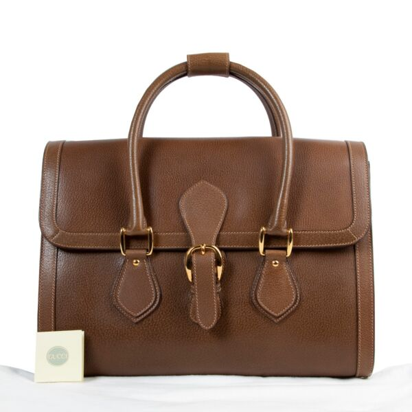 Gucci Brown Leather Top Handle
