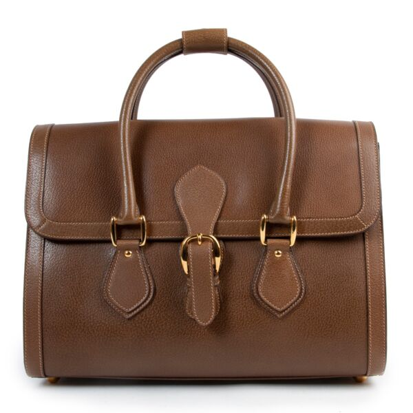Buy in very good condition a Gucci Brown Leather Top Handle