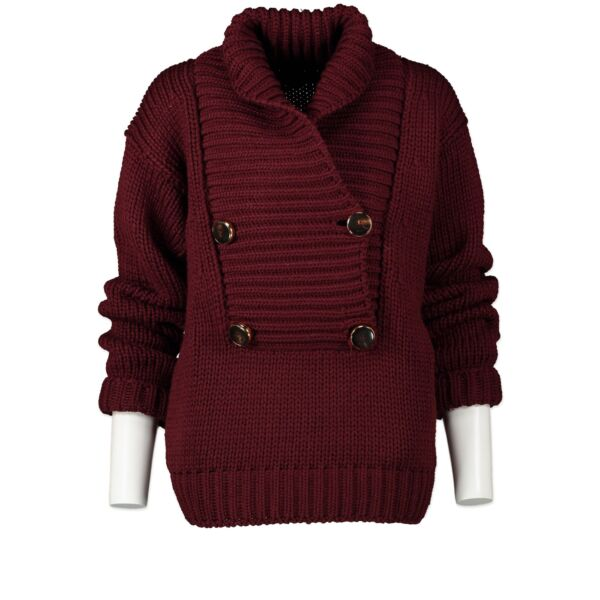 Buy Secondhand Gucci Burgundy Knitted Sweater - XS at the right price online safe and secure at LabelLOV webshop