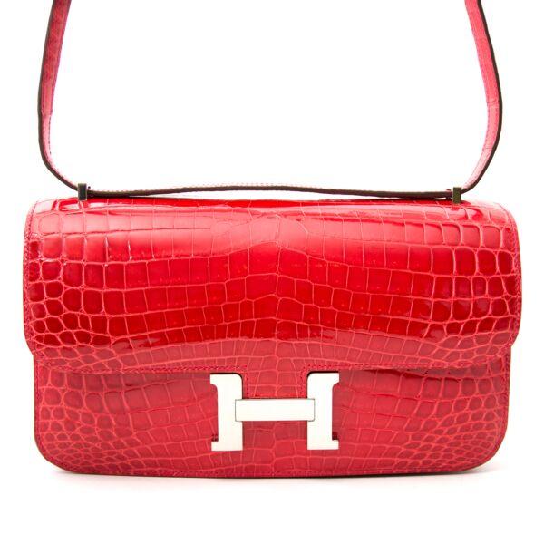 acheter en ligne pour le meilleur prix Brand New Constance Elan Crocodile Niloticus Lisse Bougainvillier Red