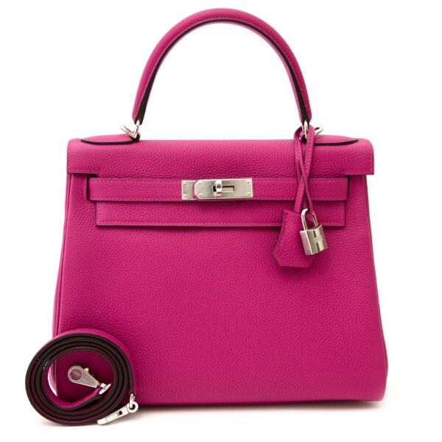 shop safe and secure online at labellov.com Hermès Kelly 28 Togo Pourpre phw