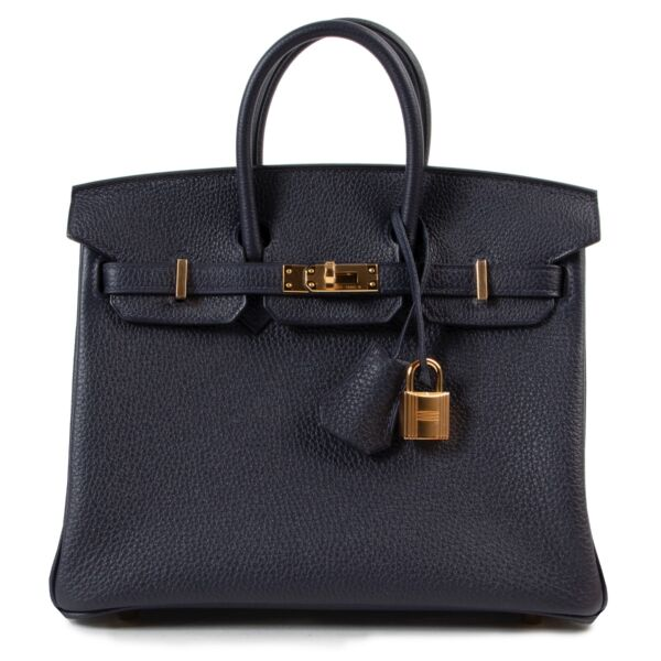 Hermès  Blue Nuit Togo Birkin 25 GHW