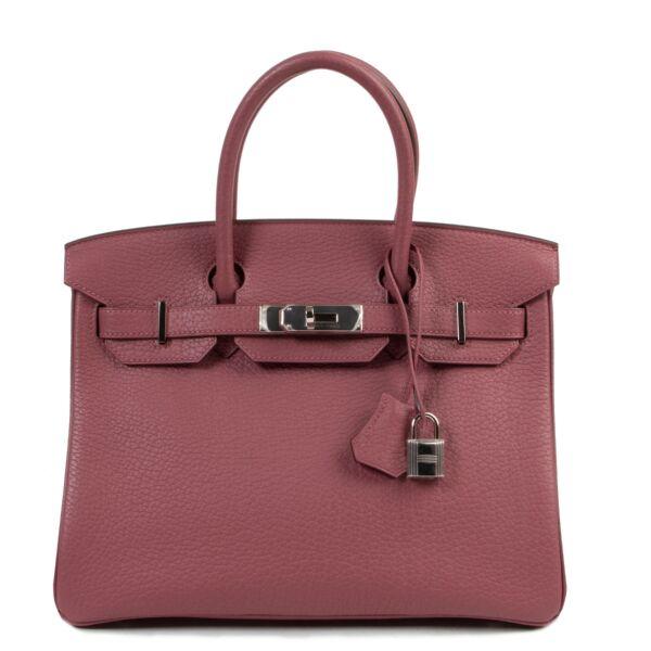 Hermes Birkin 30 Bois de Rose bag available exclusively at Labellov secondhand luxury in Antwerp Belgium