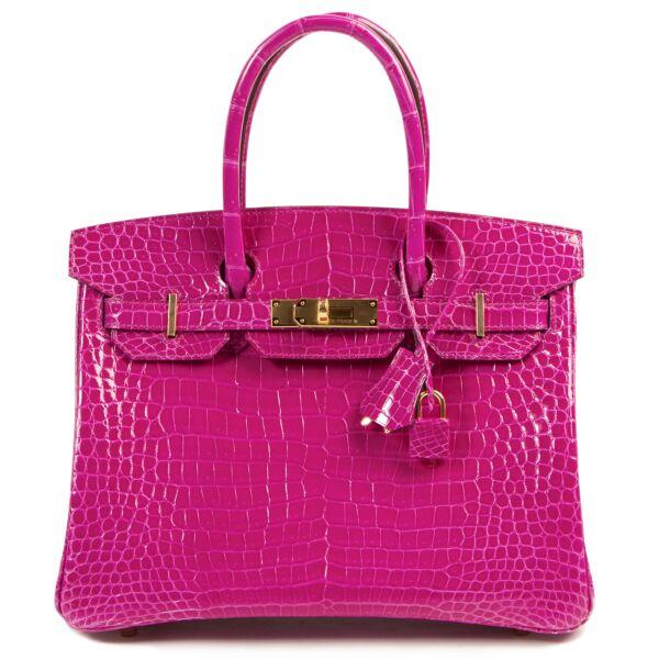 *Reserved* BRAND NEW Hermès Birkin 30 Crocodile Porosus Lisse Rose Sheherazade GHW