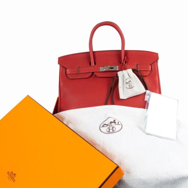 Hermes Birkin 35 Togo Rouge Grenat PHW