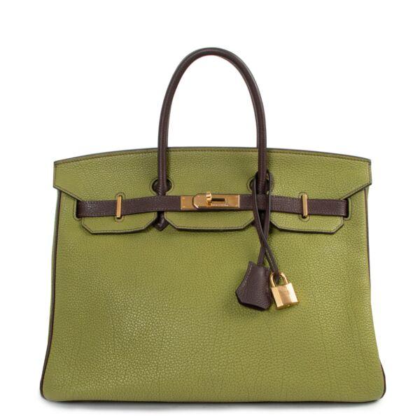 Hermès Birkin 35 Vert Anis Apple Marron Togo GHW for the best price at Labellov secondhand luxury