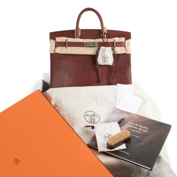 Hermès HAC Haut A Courroies 40 Cuir Volynka Terre PHW