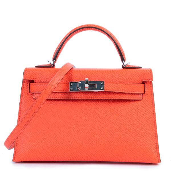 Hermès Kelly Mini Sellier Veau Epsom Rose Texas PHW