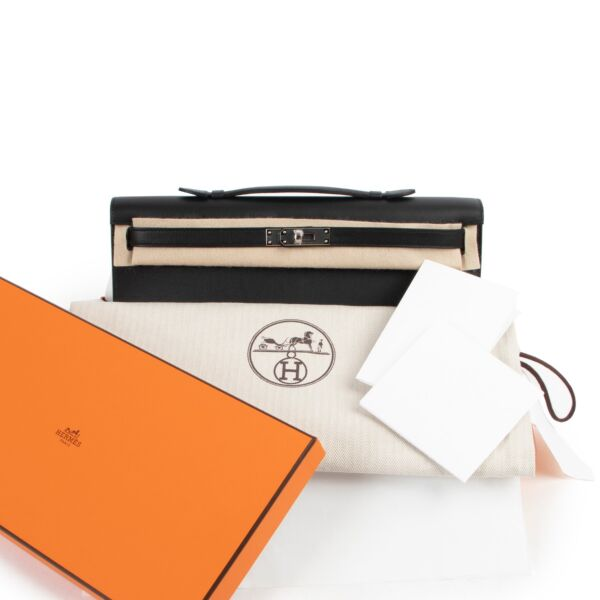 Hermès Kelly Cut Pochette Black Swift PHW