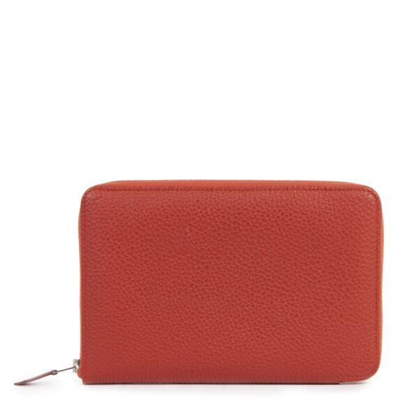 Hermes Vermillon Azap Classique Wallet