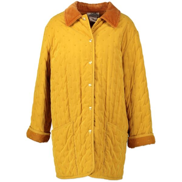 100% authentic Hermes Yellow Button Up Parka - size 38  for the best price at Labellov