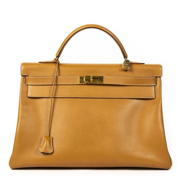 shop safe online your secondhand Hermes Gold Ardennes Kelly 40 Retourner